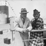 Charles Boyer and Wife on Ship Deck