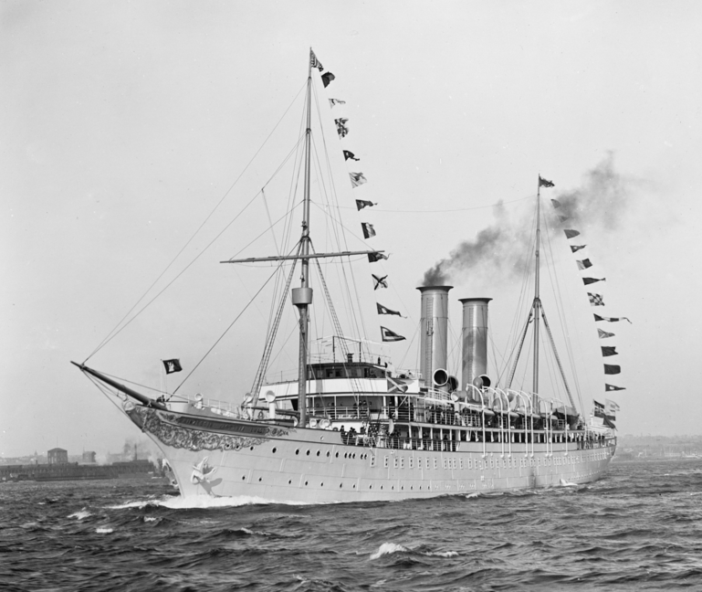 The first cruise ship - the Princess Victoria...