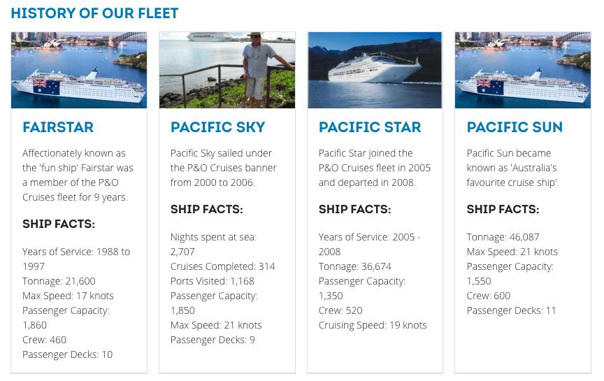 The early P&O Fleet...