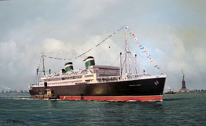 Grace Line's SS Santa Rosa...