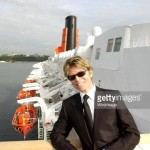 David Bowie arriving in NY aboard the QE 2...