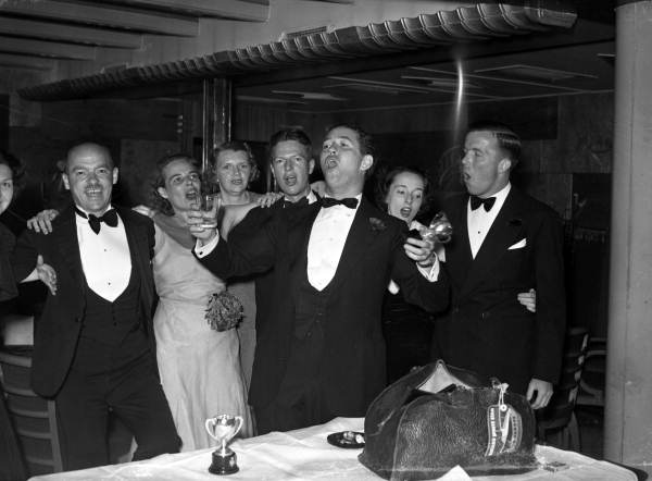 Passengers aboard the SS Florida on the Carnival Cruise to Havana... 1948