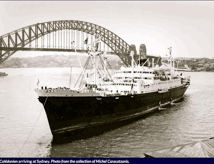 Caledonien docking in Sydney, Australia.
