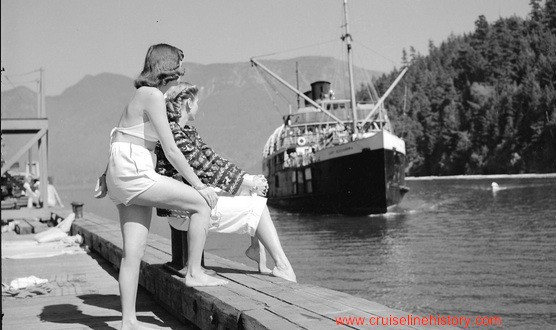 The Union Steamship Company…sailing north from Vancouver to Canada and Alaska in the 1950s…