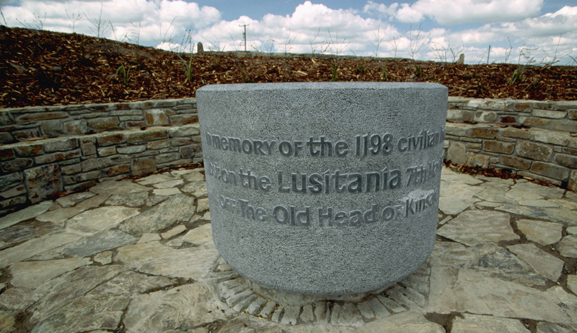 The Lusitania was torpedoed just a few miles from the shore of County Cork, Ireland, where it looms large in local culture. This memorial in County Cork commemorates the sinking. Photo: Richard Cummins—Corbis / Fortune