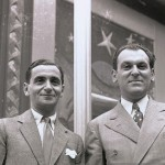 Irving Berlin and Moss Hart, famed song writers, sail aboard the SS Rex in the 1930s...