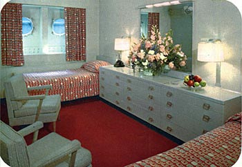 Mid Century Style And Fire Safety On The Ss United States