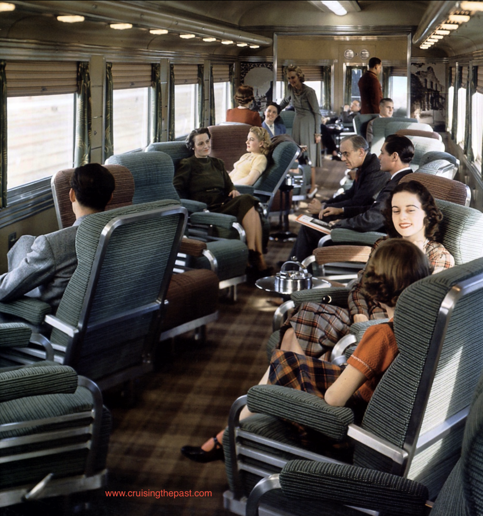 First Class travel in the Observation Parlor Car on board the COAST DAYLIGHT.