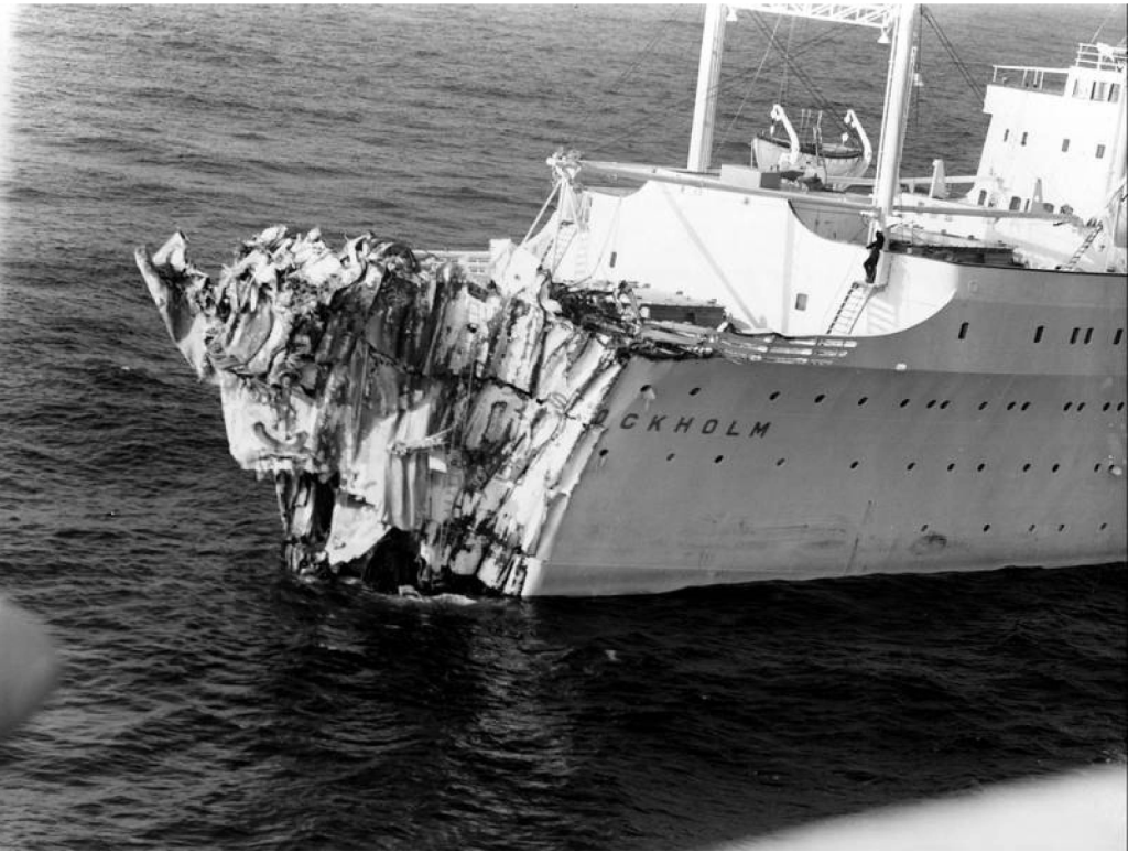 Ms Stockholm Collided With The Italian Line S Ss Andrea