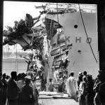 Passengers aboard the Andrea Doria.