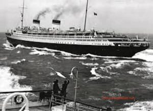 The Italian liner or real S.S. Rex.