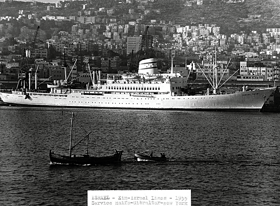 M.S. Zion (with the M.S. Israel) - Provided first and tourist class liner service between New York and Israel via the Mediterranean.