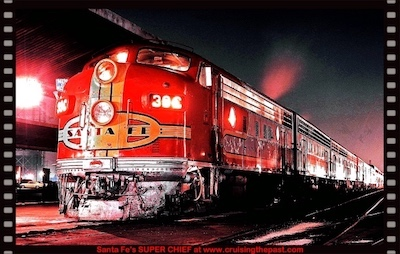 Streamliner SUPER CHIEF – Santa Fe's all-Pullman train of the stars