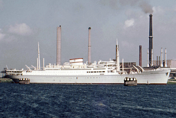 Emigrants, refuges, tourists and students sailed on the Arosa Line in the 1950s