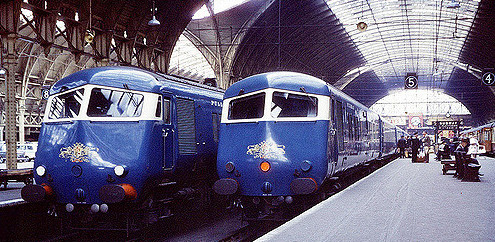Deluxe Midland Pullman between London and Manchester in the 1960s