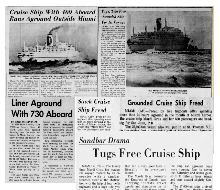 CARNIVAL Cruise Lines MARDI GRAS The First FUN SHIP And Former - Carnival cruise ship history