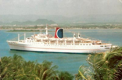 CARNIVAL Cruise Line's MARDI GRAS, the first FUN SHIP and former CP Liner RMS EMPRESS OF CANADA.