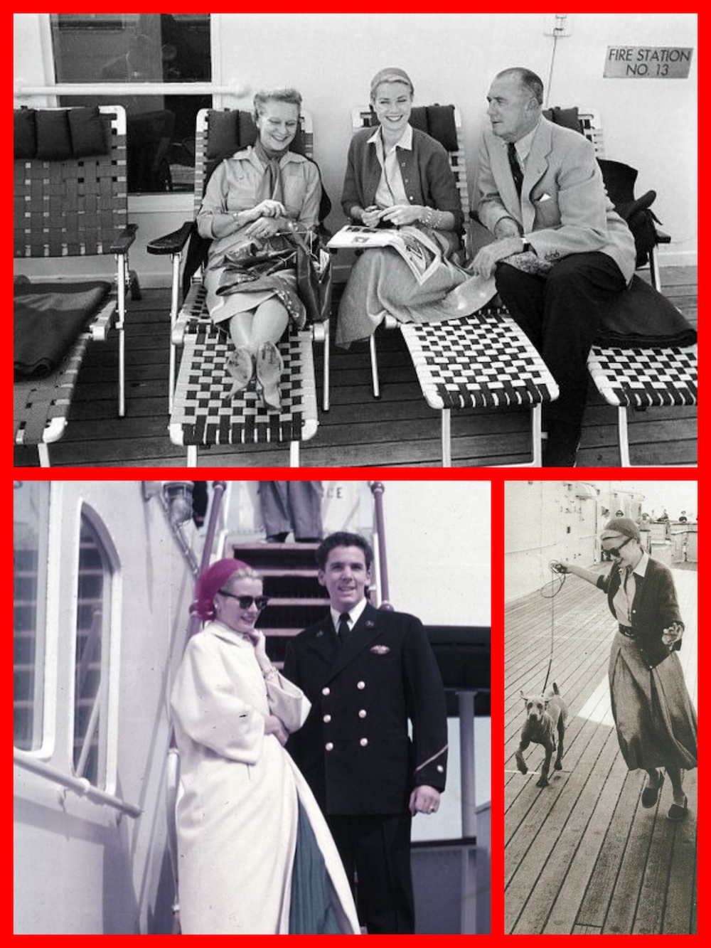 Princess Grace Cary Grant And Lucille Ball On The S S