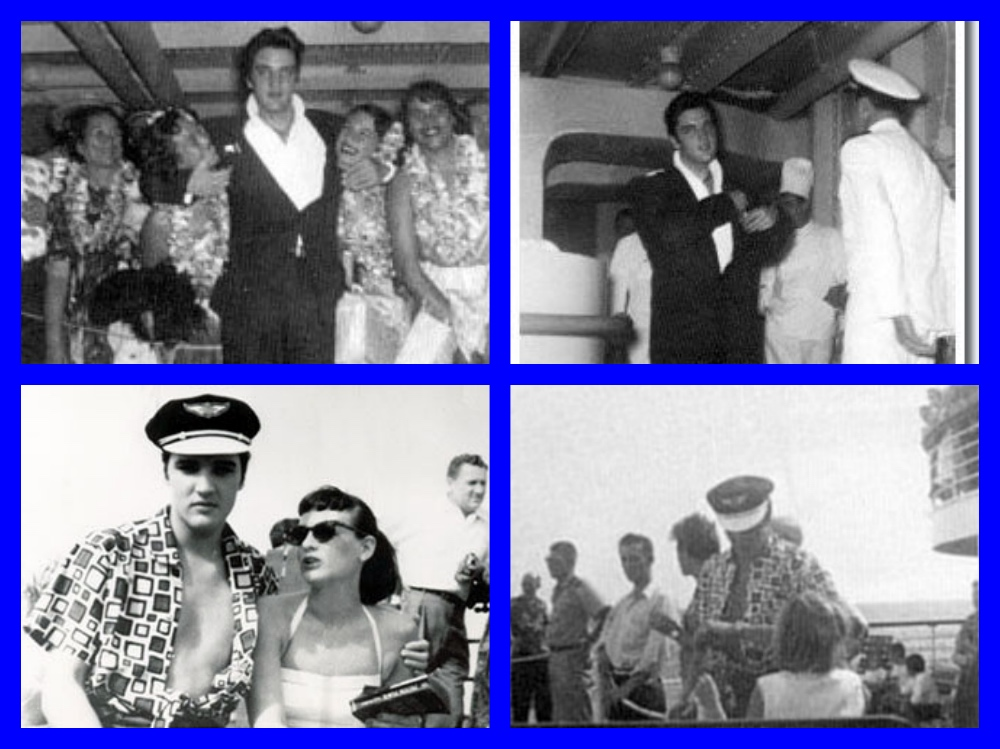 Elvis Presley, Hawaii, Matson Lines, SS Lurline, SS Matsonia, Hawaiian Village Hotel, Honolulu, Waikiki, Los Angeles, Colonel Parker, Jailhouse Rock, Celebrities, Michael L. Grace, It's The Love Boat, Cruising the past, cruise history, cruise, liners, steamships, titanic, normandie, ocean liner, white star line, ss america, steamship, waikiki, travel history