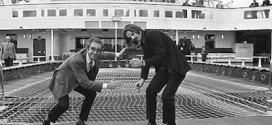 Ringo Starr and Peter Sellers sail way on the second voyage of the QE2 in 1969