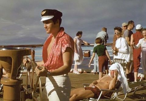 Aloha! ELVIS PRESLEY cruising to Hawaii in 1957 on the luxury liners SS Matsonia and SS Lurline