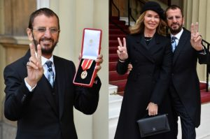 ringo starr, knighthood, prince william, buckingham palace, the beatles, Thomas the Tank Engine, MBE, BARBARA BACH, CUNARD LINE