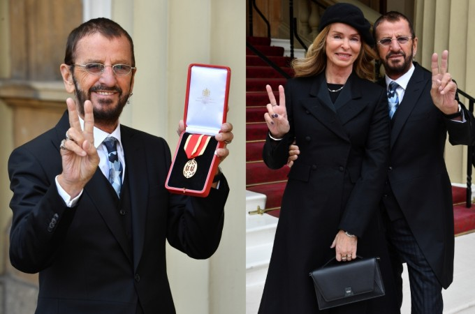 BEATLE's SIR RINGO STARR Knighted by PRINCE WILLIAM who was
