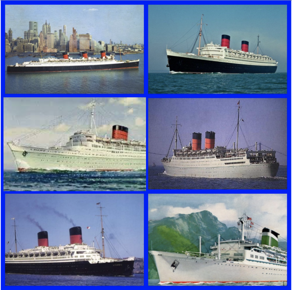 Elizabeth Taylor, Cunard Line, RMS Queen Elizabeth, RMS Queen Mary, RMS Mauritania, SS Santa Rosa, MGM, Richard Burton, Michael Wilding, Mike Todd, Conrad Hilton Jr., Cruise History, Hollywood History, Cruise Line History, Cunard History, Grace Line, Michael L. Grace, Cruising the Past, Social History, French Line, SS Liberte