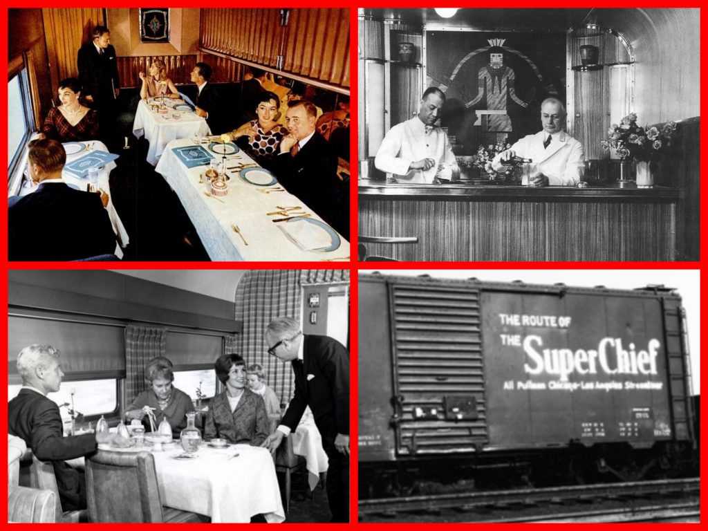 super chief. train of the stars, pullman, pullman company, all pullman, streamliners, janet leigh, clark gable, ava gardner, the hucksters, mgm, virginia leith, edward arnold, gloria swanson, cruise history, cruising the past, augustus grace