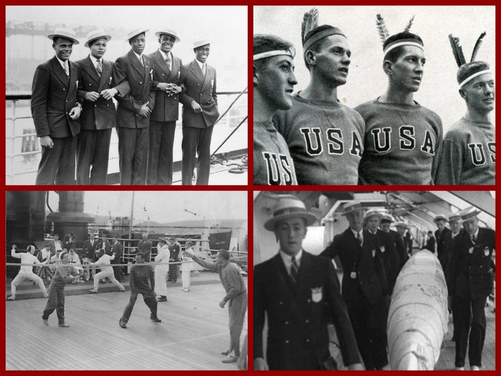 ss manhattan, united states lines, olympic team, 1930s, retro, John f Kennedy, marlena dietrich, olympics 1936, manhattan cocktail